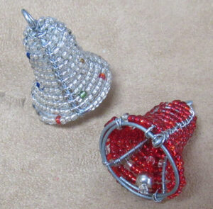 Beaded Double Bell Ornaments