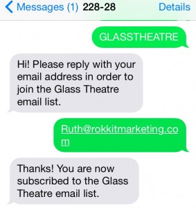 Glass Theatre - eMail Signup