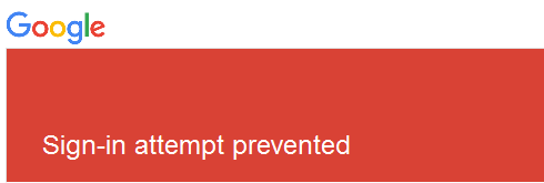 Google Sign-in attempt prevented