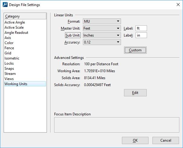 Design File Settings
