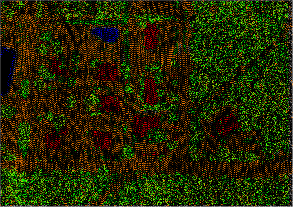 Points from a LIDAR scene
