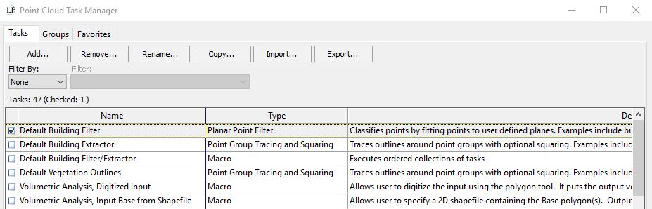 LP360 Point Cloud Task Manager