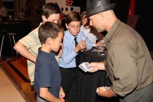 Todd showing magic at bar mitzvah 11