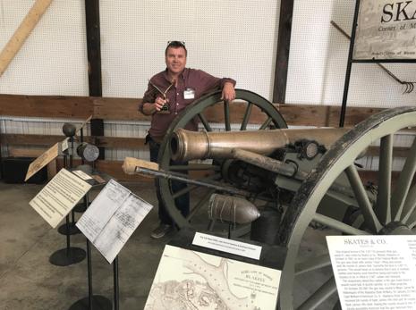 Original Confederate 1861 bronze 6 Pdr rifled gun