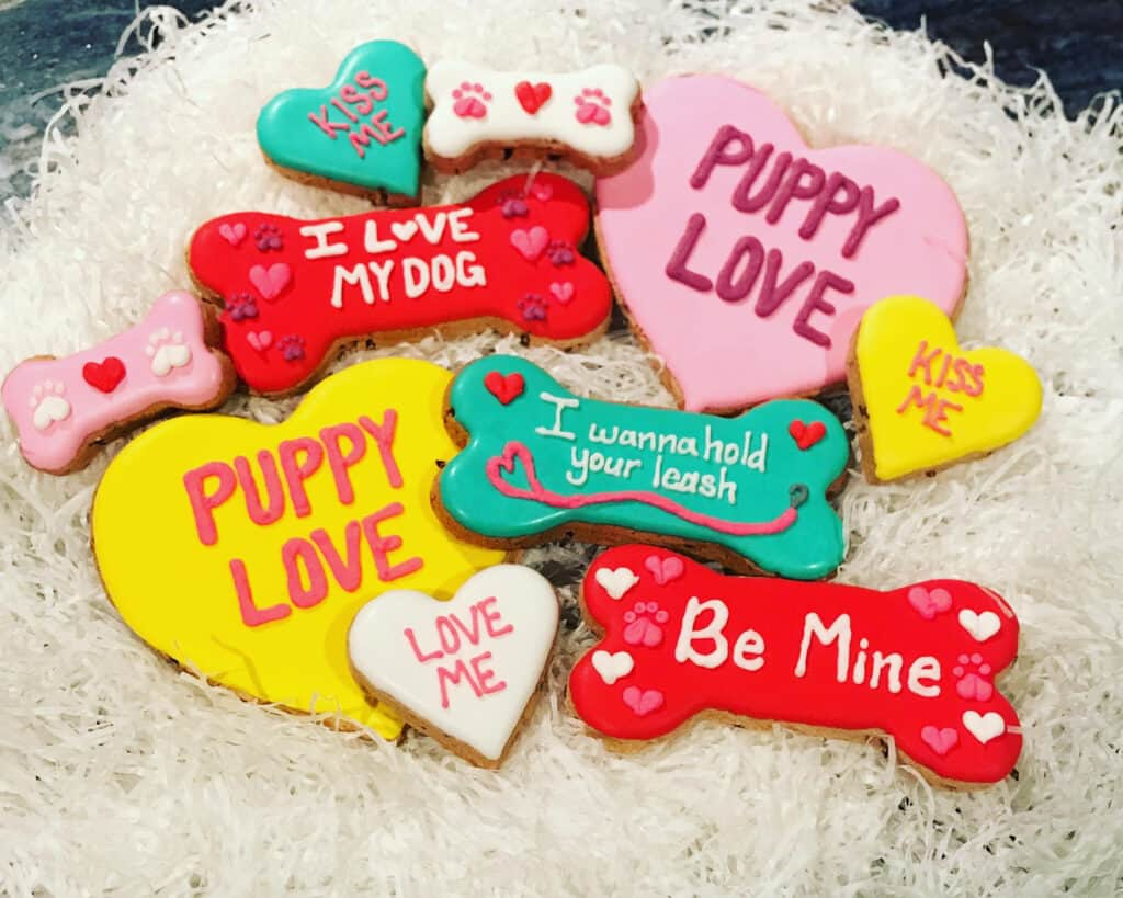 valentine's day dog treats frosted treats from The Doggie Express