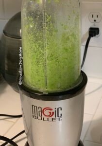puree spinach in blender for healthy dog treats