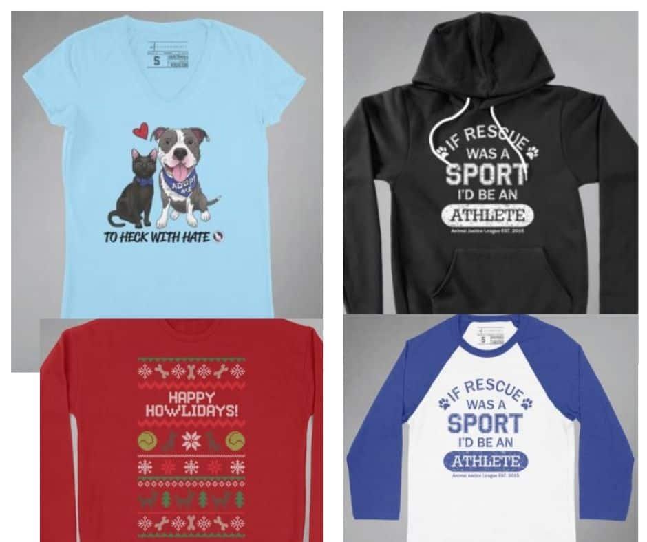 shop rescue animal justice league AJL t-shirts