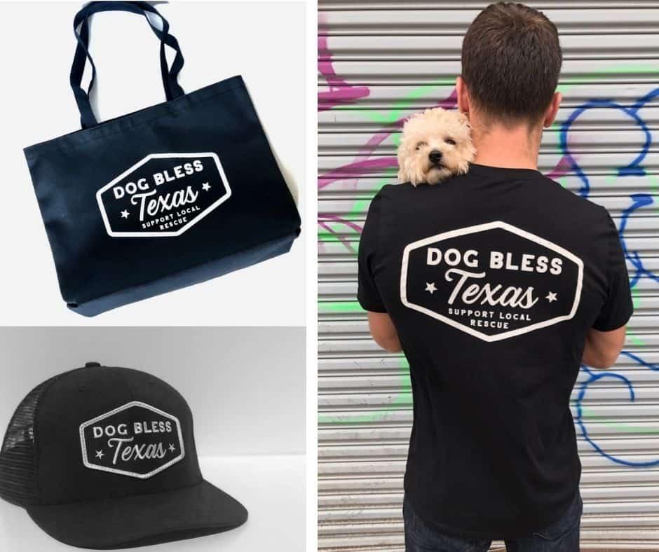 dog bless texas tshirt bag trucker hat