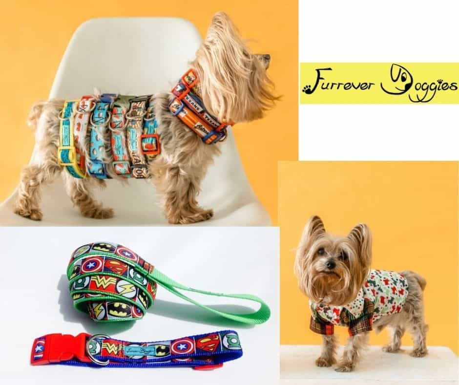 houston custom dog collar, custom dog dress, custom dog leash original designs by Lupe Casas Furrever Doggies.