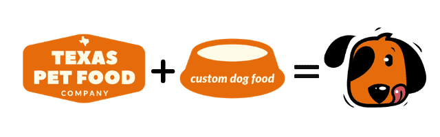 fresh local made kibble from Texas Pet food company plus custom mix-ins and add-ins makes for a happy dog!