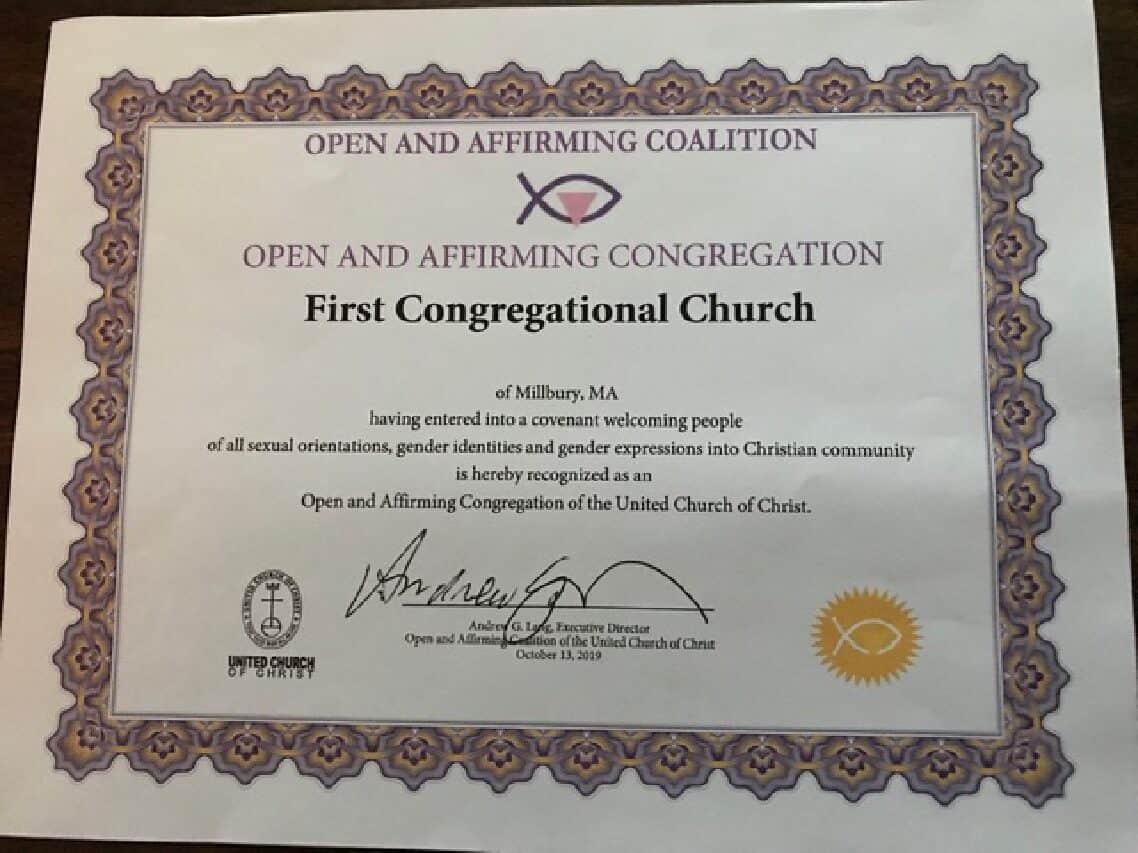 We are now designated as an Open and Affirming Church!