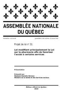 Projet de loi 31 - Couverture