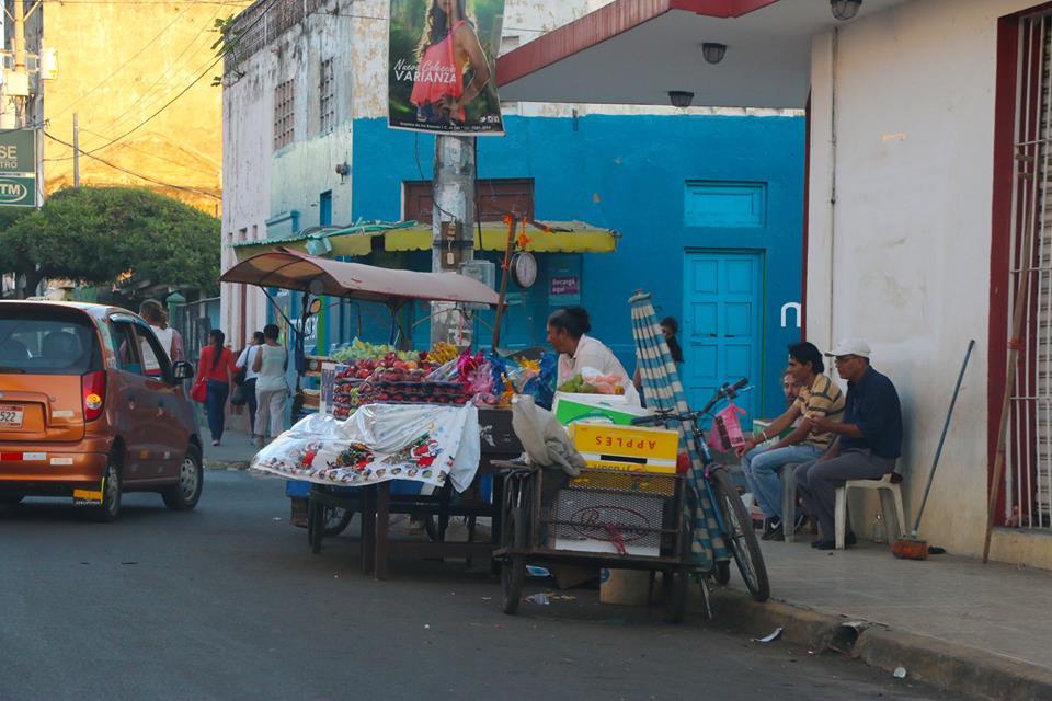 Los negocios de calle en Nicaragua