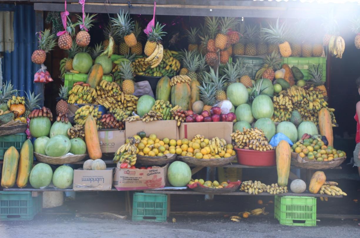 Las frutas que venden el Crucero Managua