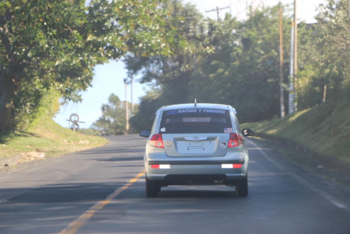 El costo de viajar en vehículos privados en Nicaragua