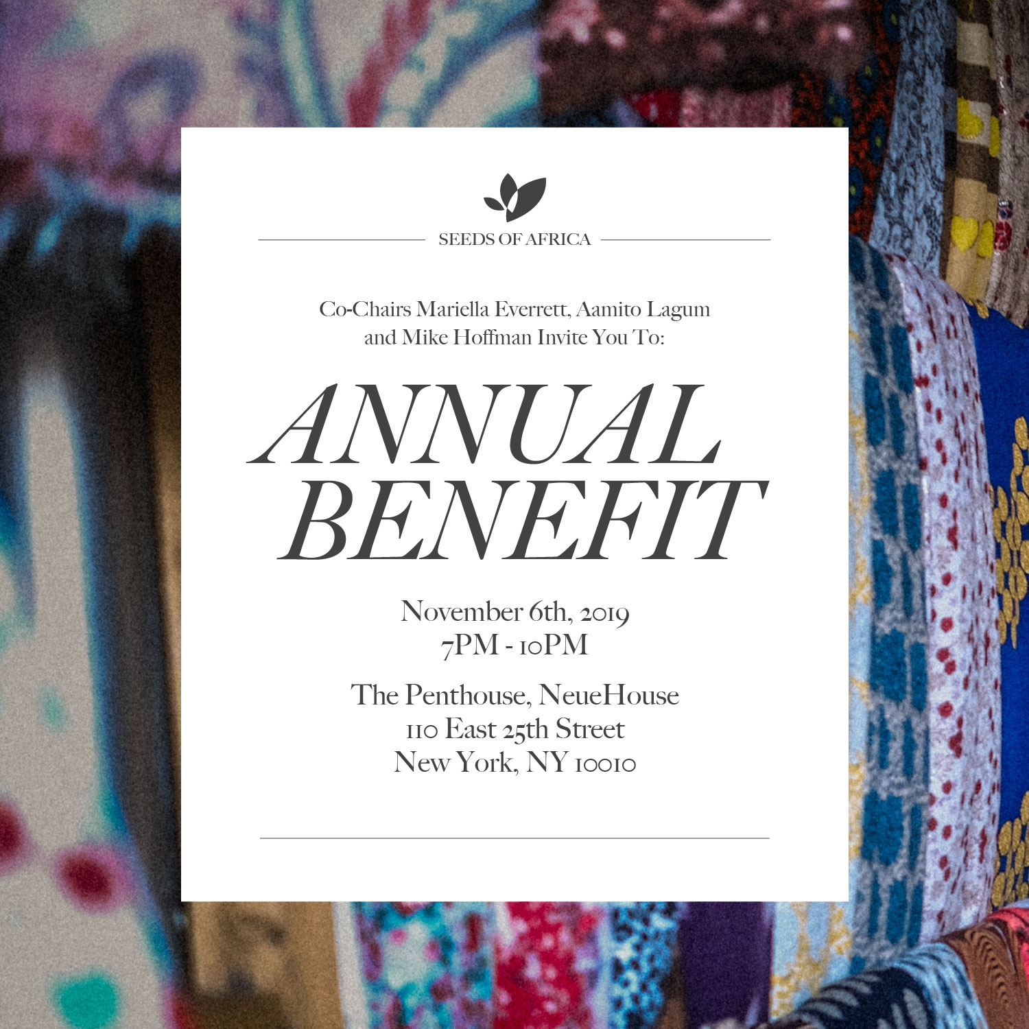 You're Invited: Seeds of Africa 2019 Annual Benefit