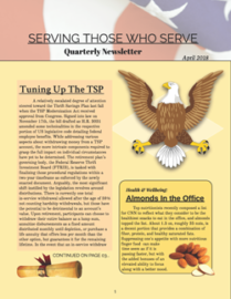 Serving Those Who Serve Quarterly Newsletter – April 2018
