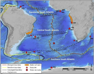 Location Map for Mesozoic Biochronostratigraphy and Paleoenvironment of the South Atlantic