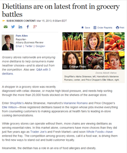 Dietitians are on latest front in grocery battles
