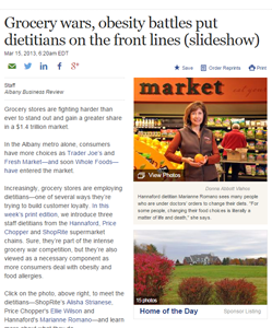 Grocery wars, obesity battles put dietitians on the front lines