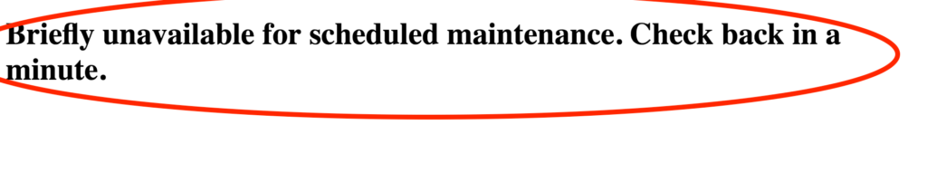 Briefly unavailable for scheduled maintenance. Check back in a minute. WordPress.