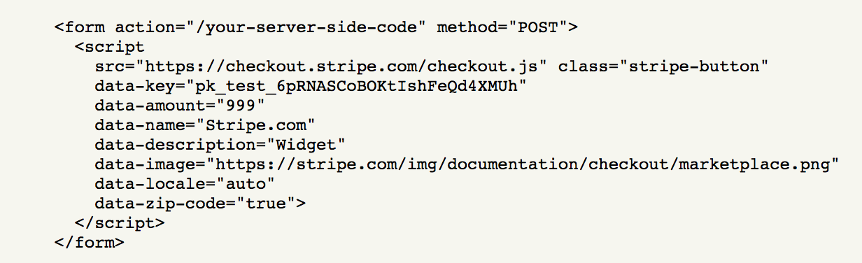 Stripe's 7 lines of code (actually 12)