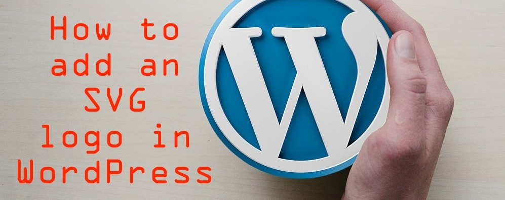 how to add an svg logo in wordpress