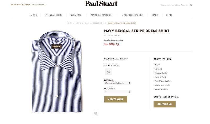 Brooks Brothers doesn't sell this shirt
