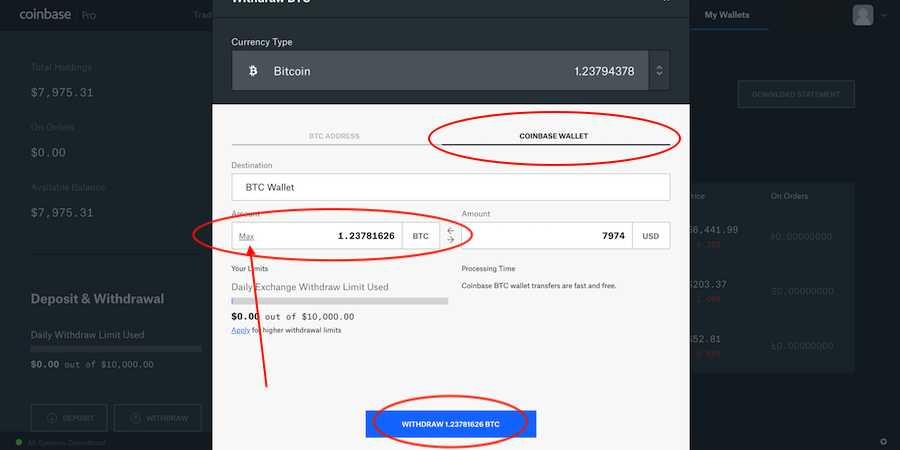 How to Transfer BTC From Coinbase Pro to Coinbase 4