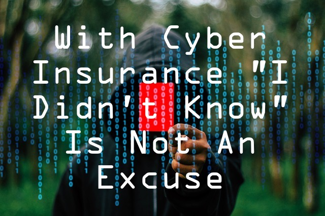 cyber insurance I didnt know is no excuse