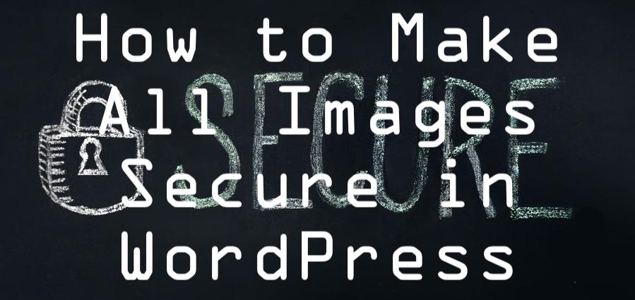 how to make all images secure in WordPress