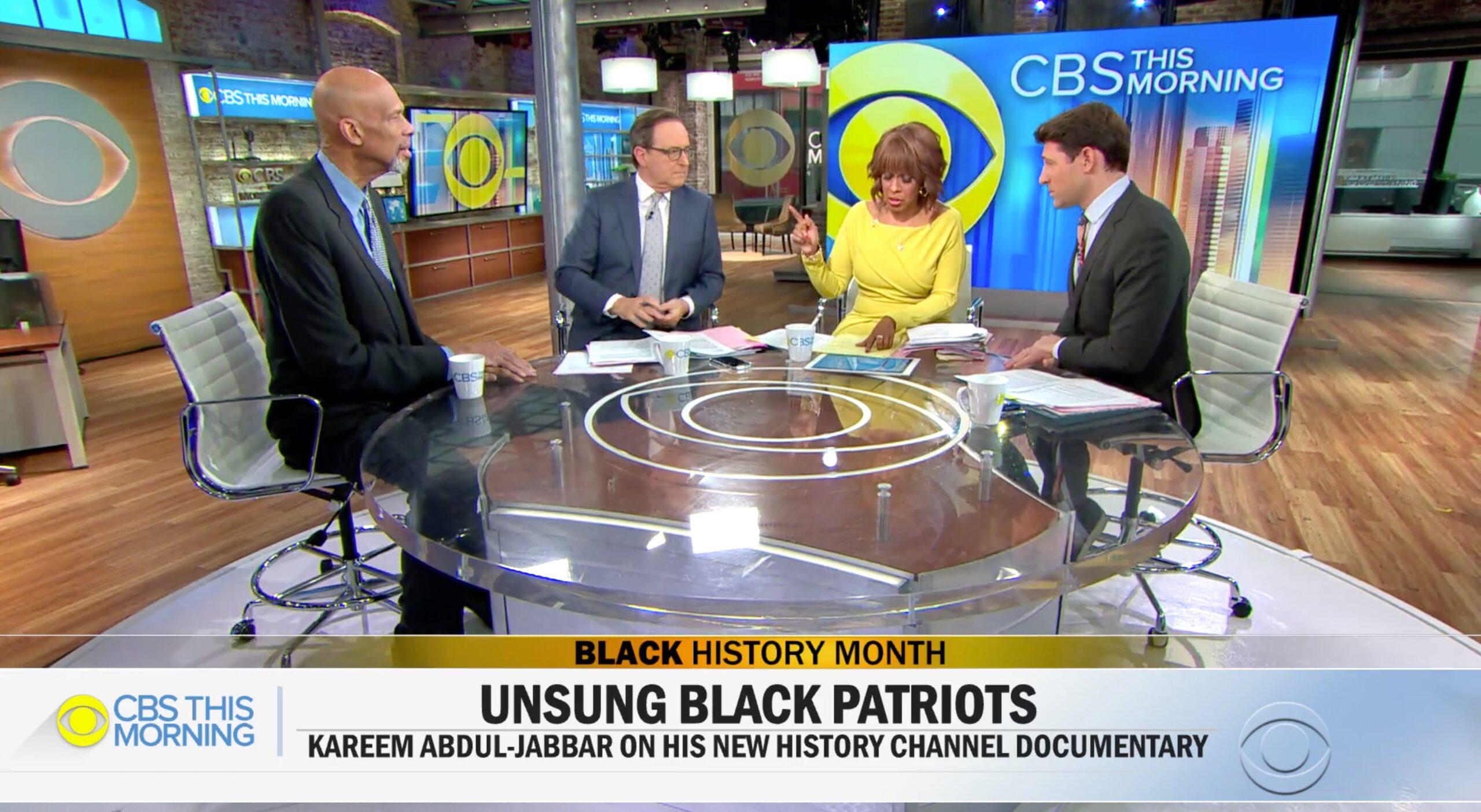 Kareem on CBS This Morning Discussing Black Patriots Documentary