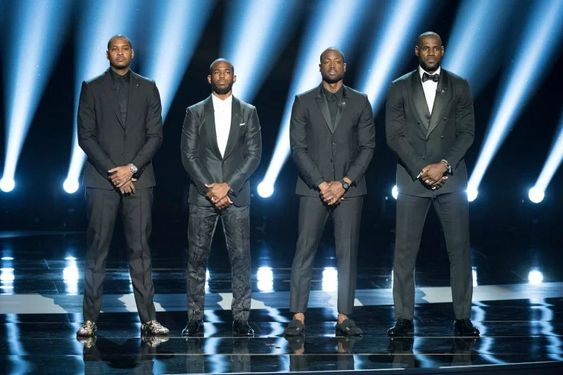 On July 13, Carmelo Anthony, Chris Paul, Dwyane Wade and LeBron James began the ESPYS with a call for justice.