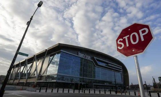 The Milwaukee Bucks had been scheduled to play the Boston Celtics on Thursday night at Fiserv Forum.