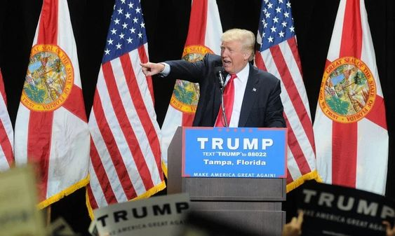 Donald Trump speaks during a campaign rally at the Tampa Convention Center on June 11, 2016 in Tampa, Fla.