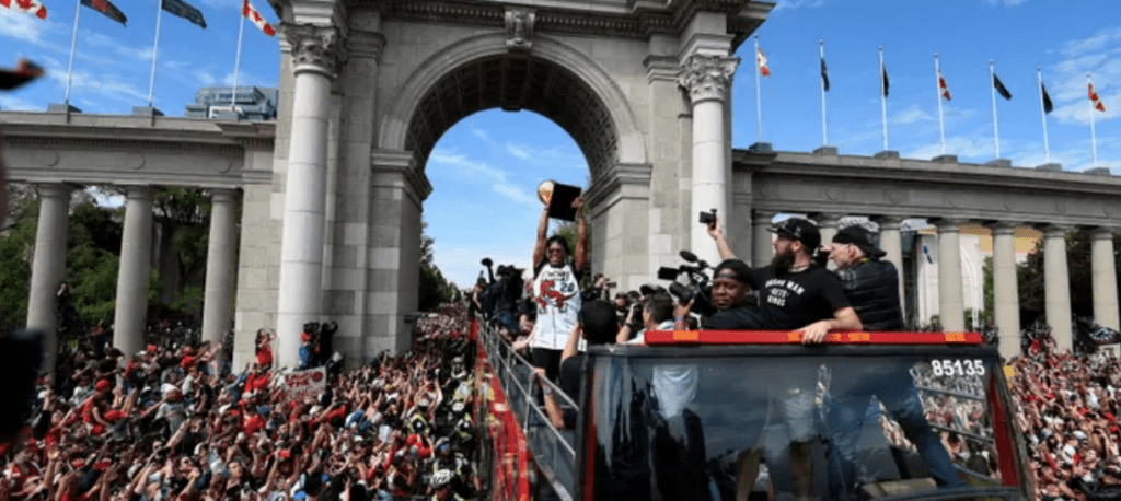 Toronto Raptors' victory parade marred by shooting and stampede – video report (screenshot)