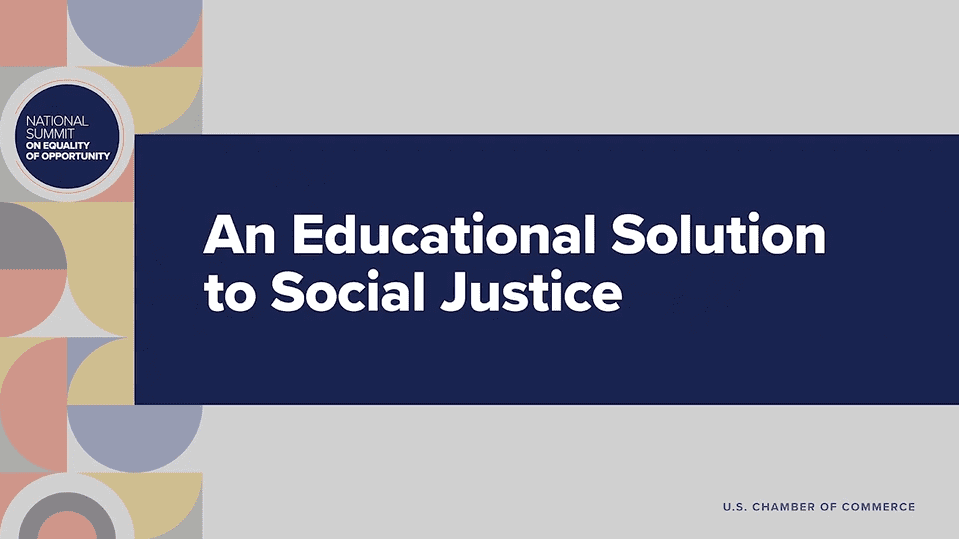 An Educational Solution to Social Justice