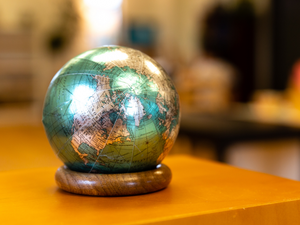 The world globe