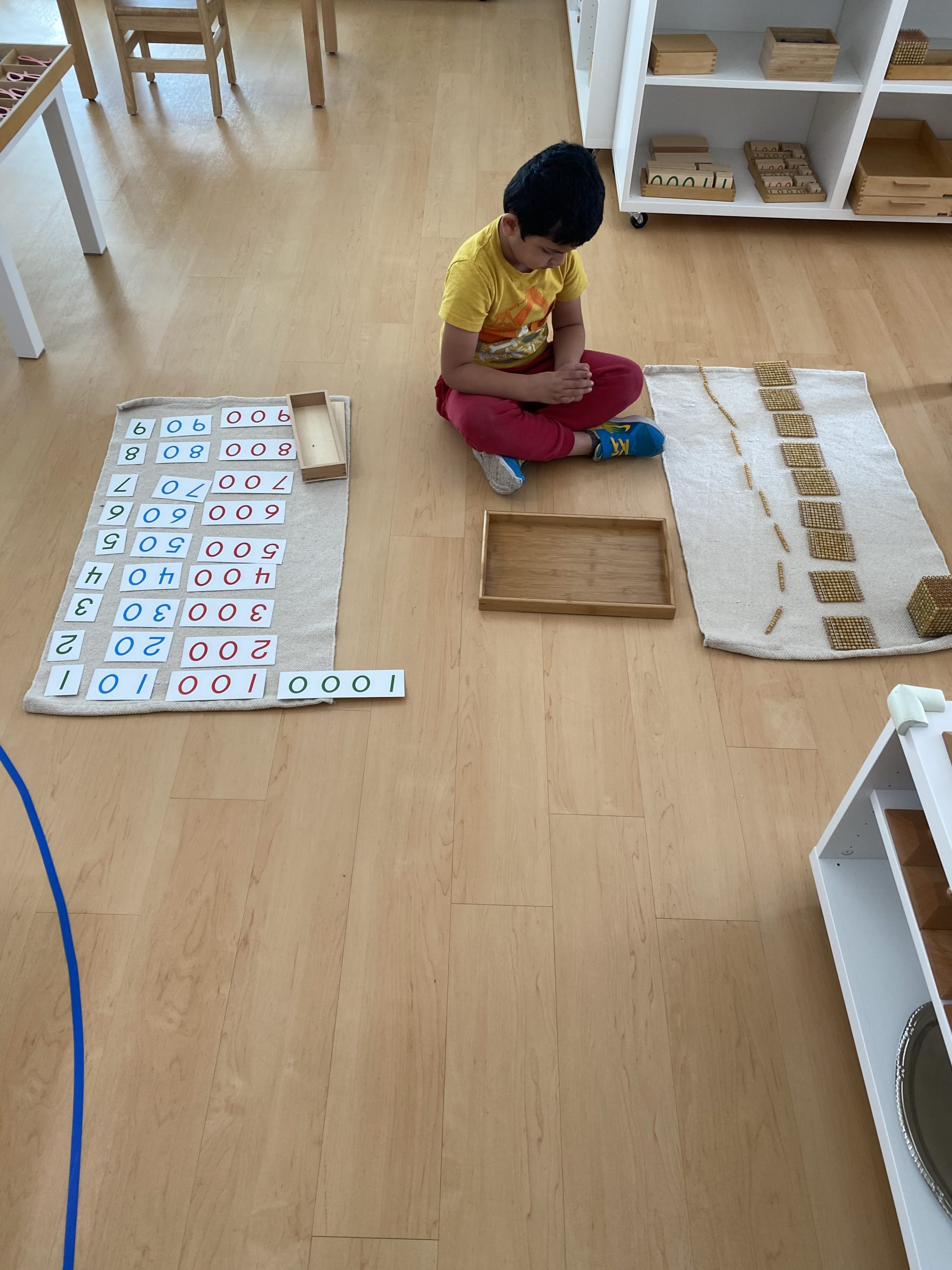 Child thinking and solving problems