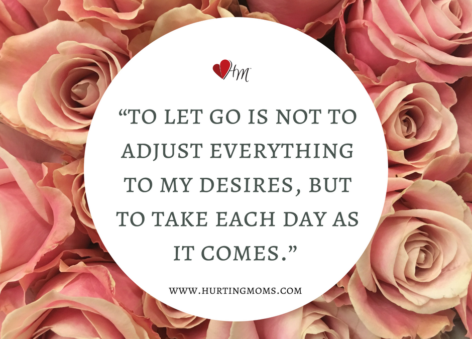 """Day 12 – """"Letting Go"""""""