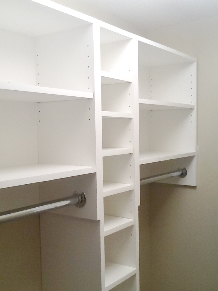 Picture of the top of the Closet Shelf Layout