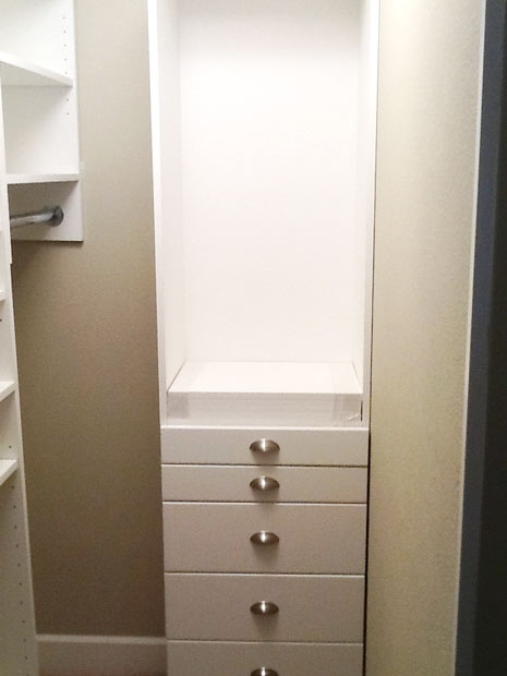Image of Closet Drawers and Shelves