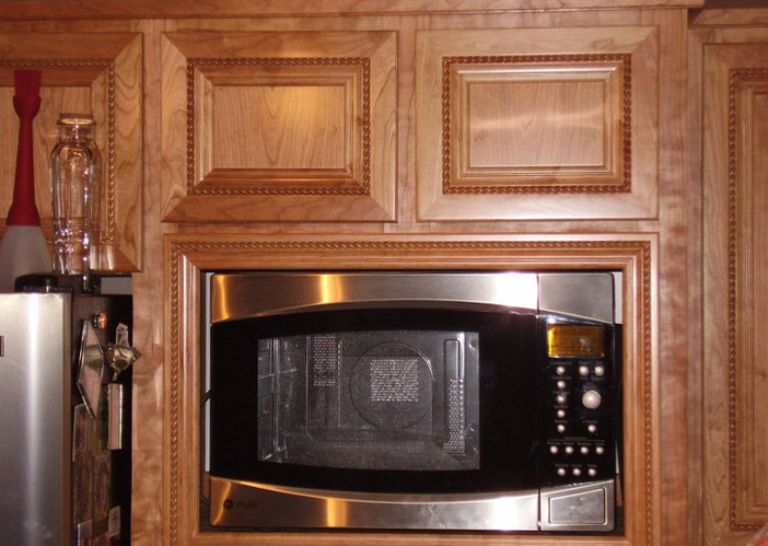 Built in Microwave Cabinets, in Custom Kitchen, Vancouver WA