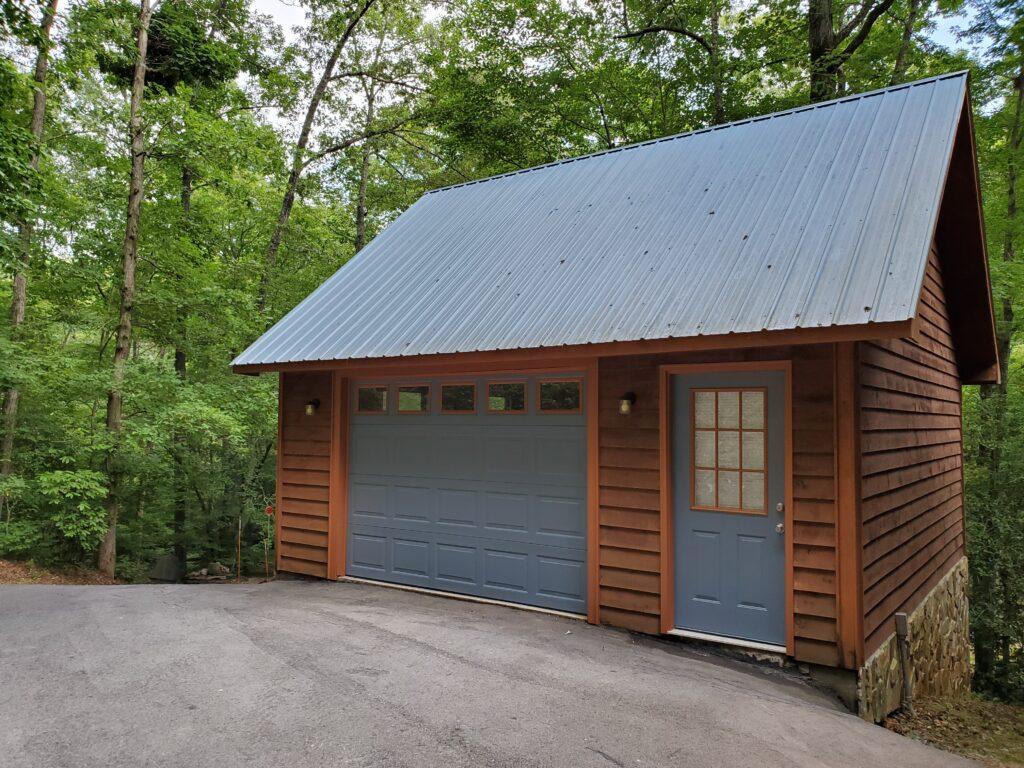Garage painted