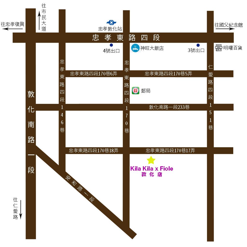 敦化店地圖