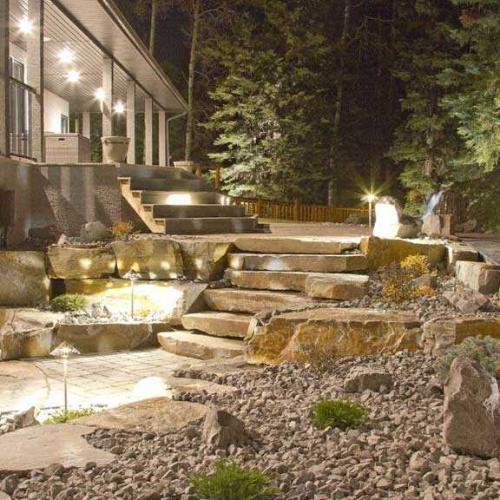 Outdoor Landscape Lighting in Alberta