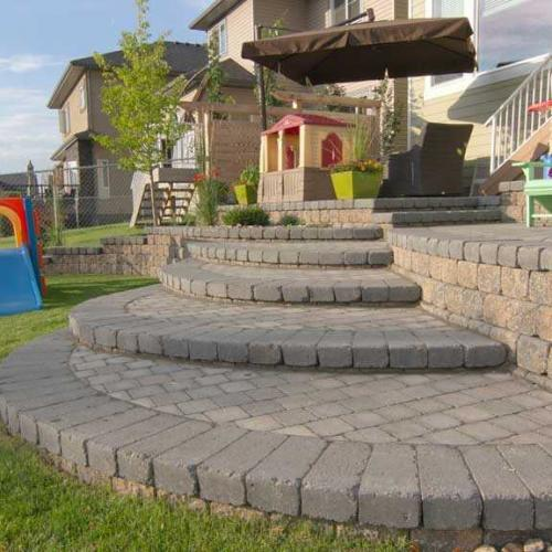 Aesthetic looking Retaining walls in Alberta