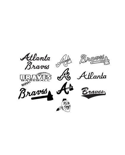 Atlanta Braves SVG, DXF and EPS Cutting Files Silhouette vinyl cut Files, for Cameo and Cricut Explore machines