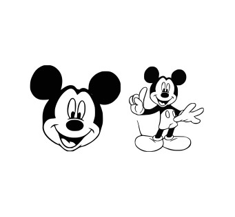 Free Mickey Mouse Svg Files, Dxf, Eps and Png Cutting Files