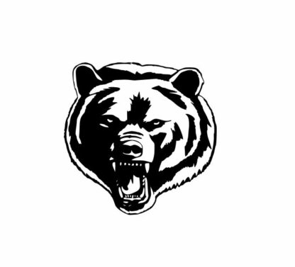 Bear svg, grizzly svg, grizzly mascot svg, Mascot svg, College SVG File Cutting, DXF, EPS design, cutting files for Silhouette Studio and Cricut Design space